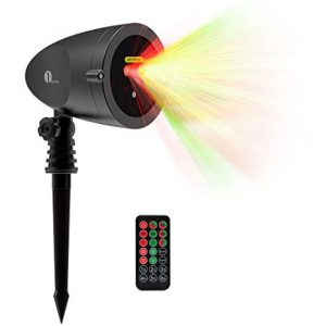1byone Aluminum Alloy Outdoor Laser Christmas Lights Projector