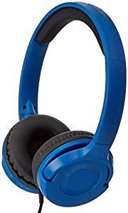 AmazonBasics Lightweight On-Ear Headphones – Blue