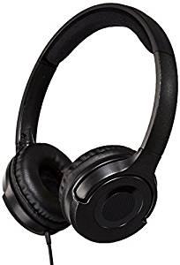 AmazonBasics Lightweight On-Ear Headphones – Black