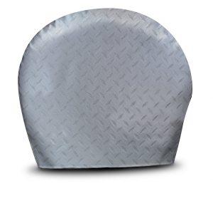 ADCO 3753 Silver #3 Diamond Plated Steel Vinyl Tyre Gard Wheel Cover