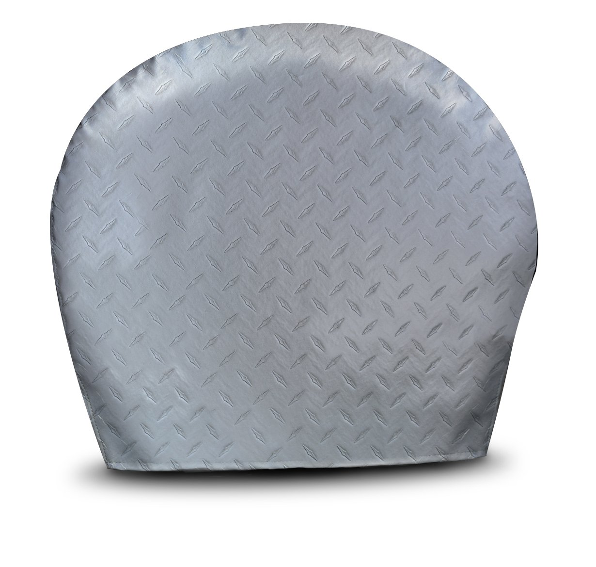 ADCO 3753 Silver #3 Diamond Plated Steel Vinyl Tyre Gard Wheel Cover