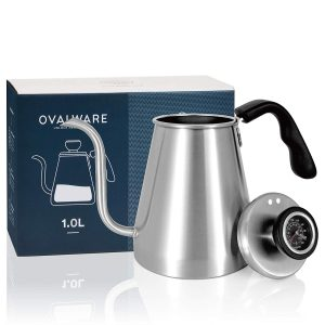 Pour Over Coffee Kettle with Built-In Thermometer