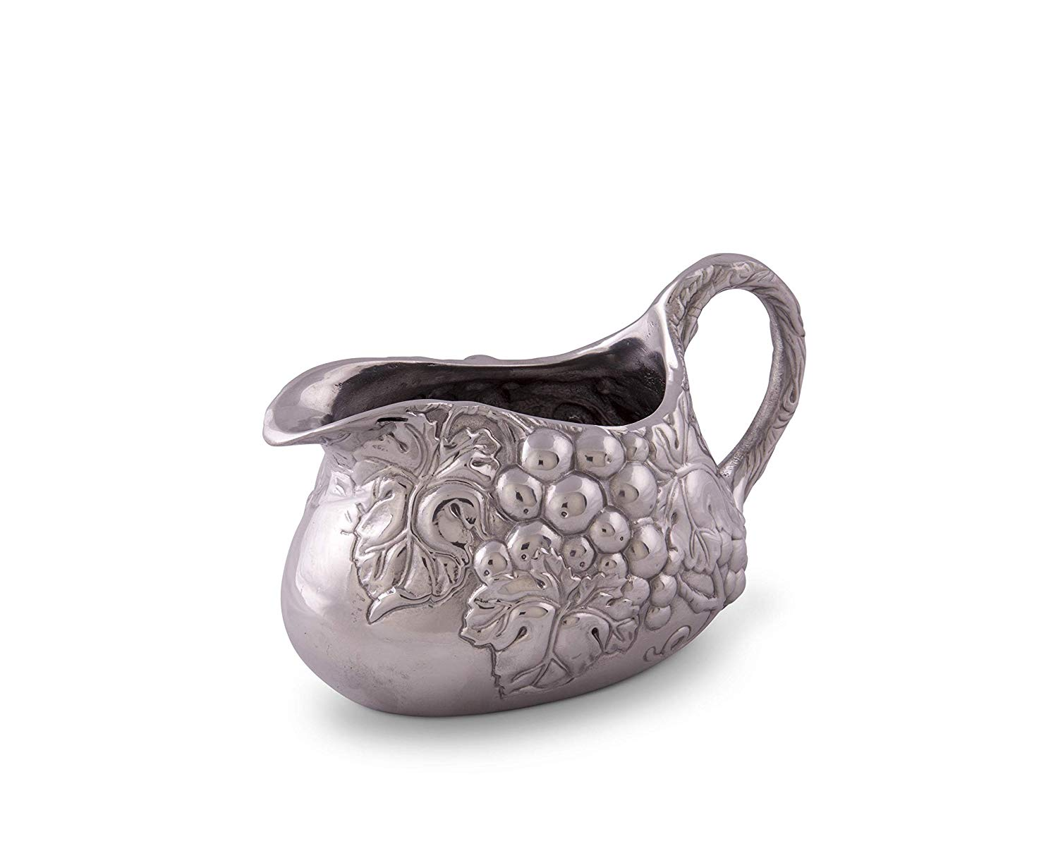 Arthur Court Designs Aluminum Grape Gravy Sauce Boat Bowl