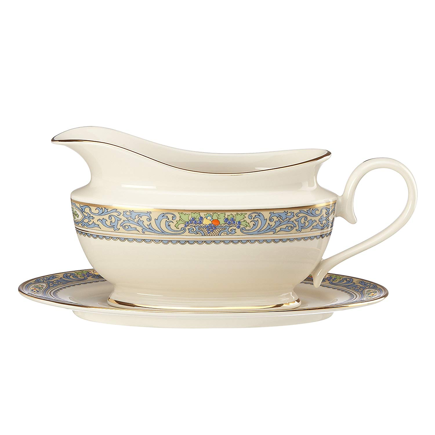 Lenox Autumn Sauce Boat and Stand