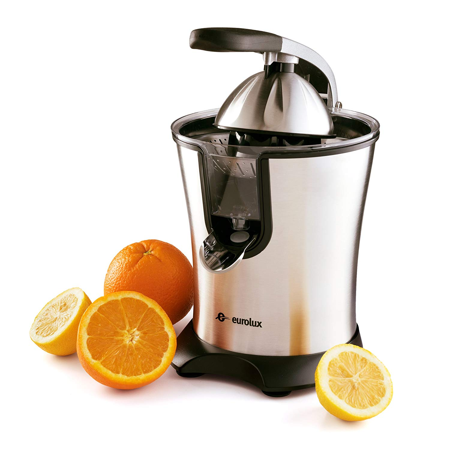 Eurolux Electric Orange Juicer Squeezer Stainless Steel 160 Watts of Power