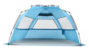 Pacific Breeze Easy Setup Beach Tent Deluxe