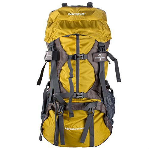 WASING 55L Internal Frame Backpack Hiking Backpacking Packs for Outdoor