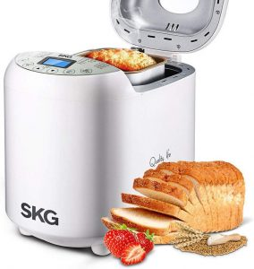 SKG Automatic Bread Maker with Recipes Multifunctional Loaf Maker for Beginner Friendly - 1LB
