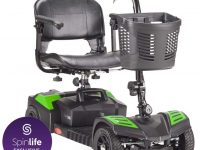 Drive Medical Scout Compact Travel Power Scooter, 4 Wheel, Green