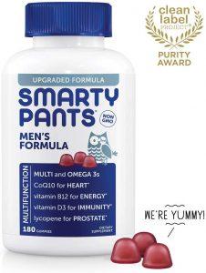 SmartyPants Men's Formula Daily Gummy Vitamins: Gluten Free, Multivitamin & Omega 3 Fish Oil (DHA/EPA), Methyl B12, Vitamin D3, Vitamin B6, 180 Count (30 Day Supply) - Packaging May Vary