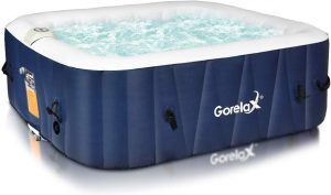 Goplus 6-Person Portable Inflatable Hot Tub