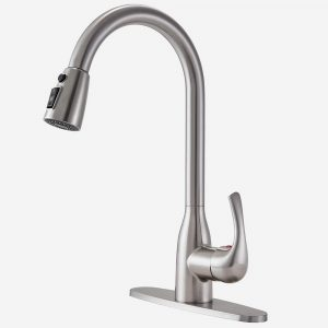 Lead-free Antique Stainless Steel Kitchen Sink Faucet
