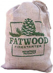 Better Wood Products Fatwood Firestarter Burlap Bag, 10-Pounds