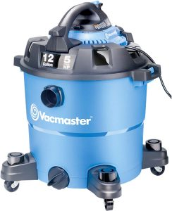 Vacmaster VBV1210, 12-Gallon 5 Peak HP Wet/Dry Shop Vacuum with Detachable Blower