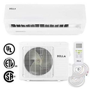 DELLA 18,000 BTU 230V- 15 SEER Home Wall Mount Mini Split Heat Pump Air Conditioner