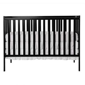 Dream On Me Synergy 5-in-1 Convertible Crib, Black