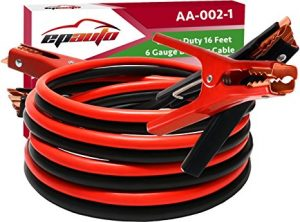 EPAuto 6 Gauge x 16 Ft Heavy Duty Booster Jumper Cables