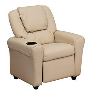 Flash Furniture Contemporary Beige Vinyl Kids Recliner