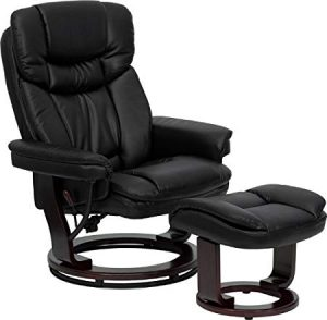 Flash Furniture Contemporary Black Leather Recliner