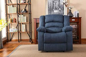 NHI Express Addison Large Contemporary Mocha Microfiber Recliner