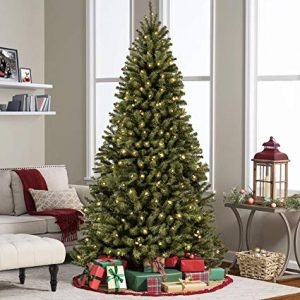 6FT Pre-Lit Premium Spruce Hinged Artificial Christmas Tree