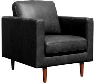 Rivet Revolve Modern Leather Armchair