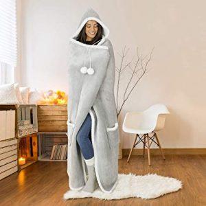Safdie & Co. Hooded Blanket Throw
