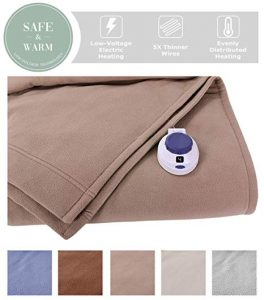 SoftHeat by Perfect Fit | Luxury Fleece Electric Heated Blanket