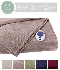 SoftHeat by Perfect Fit | Ultra Soft Plush Electric Heated Warming Blanket
