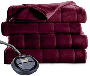 Sunbeam Channeled Microplush Heated Electric Blanket