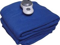 Sunbeam Quilted Fleece Electric Heated Blanket