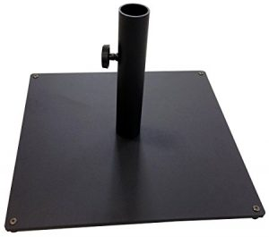 Tropishade Steel Plate Umbrella Base, 36 lbs, Black