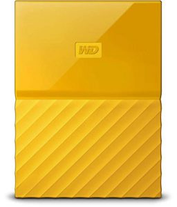 WD 4TB Yellow My Passport Portable External Hard Drive